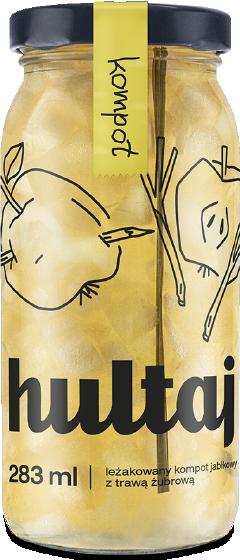 Kompot Jabłko z trawą żubrową - Hultaj